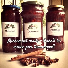 Mincemeat made - there'll be mince pies with the mulled wine tomorrow!!