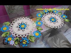 Flor para centro de mesa,camino de mesa y mantel - YouTube