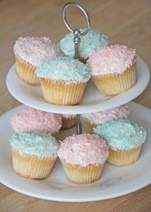 Kokos cupcakes med creme cheese frosting