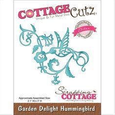CottageCutz Elites Die -Garden Delight Hummingbird No Colour