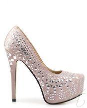 damske bezove satenove lodicky #heels #pumps
