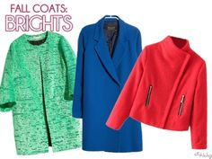 Fall Coats: Brights