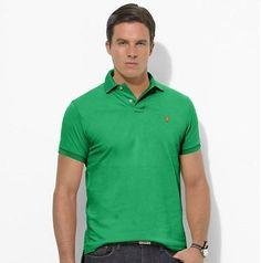 Ralph Lauren Men\u0026#39;s Custom-Fit Mesh Short Sleeve Polo Shirt Tiller Green http:/