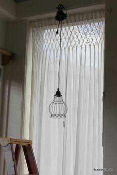 smocked drapes for the living room/studio