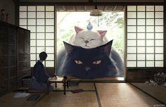 This Japanese artist created big cuddly animal to soothe people, making us feel better<<< it's Totoro lol Giant Animals, Stuffed Animals, Cute Animals, Small Animals, Totoro, Studio Ghibli, Chien Shiba Inu, Art Mignon, Illustrator