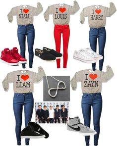 """""""Directoner outfit"""" by justinbieberlover125 ❤ liked on Polyvore"""