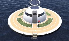 Italian boat makers Jet Capsule designed the Unidentified Floating Object, or UFO, home: a floating houseboat that's entirely off the grid and uses solar power.