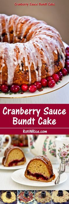 Not sure what to do with leftover cranberry sauce? Use it to make this easy, moist, and delicious Cranberry Sauce Bundt Cake. | Food to gladden the heart at RotiNRice.com