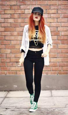 le happy, grunge, fashion, ombre