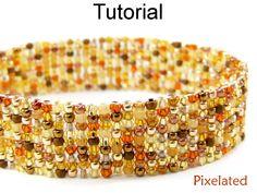 Bracelet Tutorial Beading Pattern Jewelry Making Square Stitch