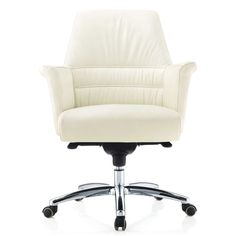 Geffen Genuine Leather Aluminum Base Low Back Executive Chair | Zuri Furniture