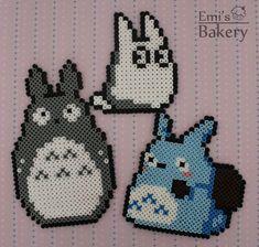 Perler Totoro Family by EmisBakery on deviantART