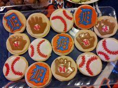 Detroit Tigers Baseball Sugar Cookies