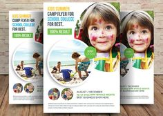 Kids Summer Camp Flyer by Party Flyers on @creativemarket