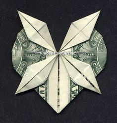 Money origami 10 flowers to fold using a dollar bill money heart w 4 point star money origami dollar bill art mightylinksfo Image collections