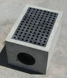 Concrete drain grate google search design build for Yard drain box