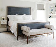 Love this bedroom.  Simple elegant.  Must find this headboard!
