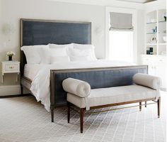 Love this bedroom.  Simple elegant.  Must find this headboard!