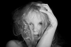 Photography. Black and white.  Portrait.  Studio work.