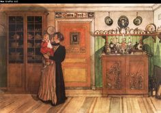 Carl Larsson Tuixt Christmas and New Years