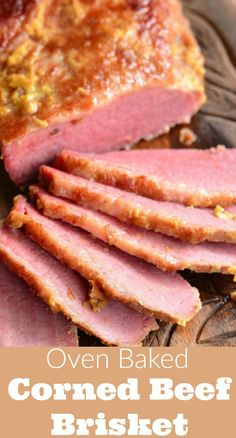 Amazing, tender corned beef brisket cooked in the oven with just three ingredients. This brisket is flavorful, easy, and comes out so tender. Corned Beef In Oven, Baked Corned Beef, Cooking Corned Beef, Corned Beef Brisket, Crockpot Cabbage Recipes, Beef Brisket Recipes, Lean Meals, Corn Beef And Cabbage, Oven Baked