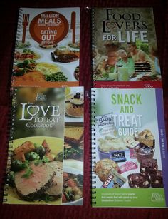 The Food Lovers Fat Loss System Lot of 4 metabolism makeover meals Cookbooks