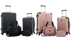 Travelers Club Midtown Expandable Spinner Luggage Set with Boarding Tote & Toiletry Bag Abs Weights, Hardside Spinner Luggage, Spinner Suitcase, Carry On Suitcase, Cruise Tips, Luggage Sets, Travel Kits, Toiletry Bag, Club