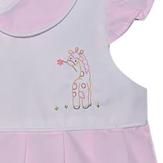 Giraffe Girl Bubble Pink Dress, Blue Dresses, White Dress, Smocked Baby Clothes, Smocking, Giraffe, Bubble, Infant, Sewing