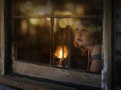 the lights. by Elena Shumilova on Children Photography, Portrait Photography, Jolie Photo, Christmas Photos, Beautiful Children, Cute Kids, Fine Art, Wallpaper, Drawings