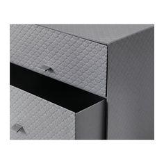 PALLRA Minikommode 3 skuffer, mørk grå 31x26x31 cm mørk grå kr 169
