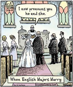 when english majors marry.