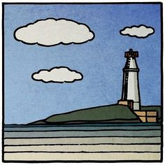"Peter Brennan on Instagram: ""copper point lighthouse"" Lighthouses, Irish, Copper, Snoopy, Fictional Characters, Instagram, Art, Art Background, Irish Language"