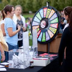 Before the show, make sure to spin our prize wheel for a chance to win anything from a koozie to free classical concert tickets. There will also be a drawing to win tickets to Live at Powell Hall events, including Pink Floyd! Buy this Prize Wheel at http://PrizeWheel.com/products/tabletop-prize-wheels/tabletop-black-clicker-prize-wheel-18-slot/.
