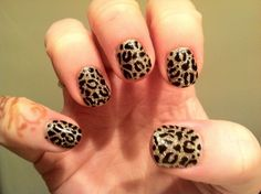 Brush up and Polish up!: CND Shellac Nail Art - More Leopard Print