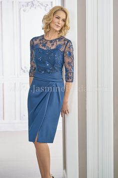 Jasmine Bridal Black Label Style M190017 In Caroline Sequin Lace Crepe With Acetate