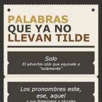 """Palabras que ya no llevan tilde. #Spanish  Insumisión, bueno, incluso """"insumision""""..."""