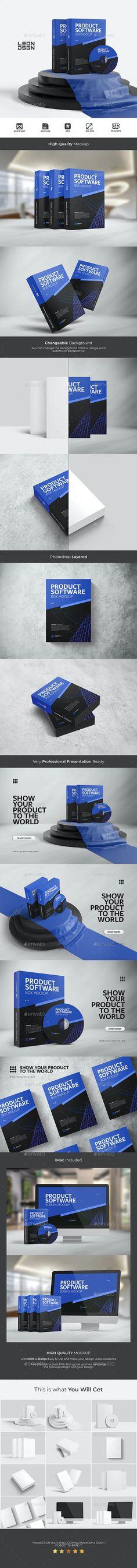 Software Product - Box Mockup by leon_dsgn | GraphicRiver