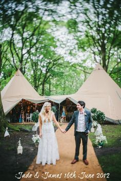 In the UK, renting tipi's is very popular. Woodland Wedding