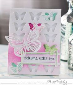 Welcome, Little One Card by Betsy Veldman for Papertrey Ink (January 2016)