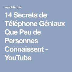 14 Secrets de Téléphone Géniaux Que Peu de Personnes Connaissent - YouTube