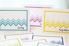 Chevron notecards by Lexi Daly