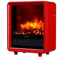 PuraFlame Octavia Red 12 inch Portable electric Heater, Eco Friendly, * Haven't you heard that you can find more discounts at this image link : Home Decor Fireplaces Accessories Portable Electric Fireplace, Portable Electric Heaters, Best Electric Fireplace, Electric Fireplace Heater, Electric Fires, Fireplace Inserts, Gas Fireplace, Fireplaces, Best Space Heater