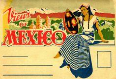 mexican postcards Vintage