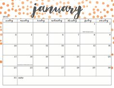 109 Best Calendar Template Printable images in 2019 ...