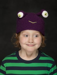 Have a monster of a good time with this crochet Monsta Hat.