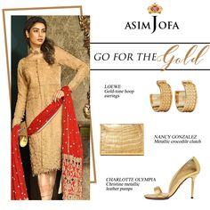 Asim Jofa Chiffon Dress Eid Collection 2017 latest chiffon catalog new designs of replica at festival wear.Luxurious Chiffons with detailed embroideries dresses Eid Collection 2017, Nancy Gonzalez, Embroidery Dress, Charlotte Olympia, Metallic Leather, Leather Pumps, Chiffon Dress, Catalog, Sari