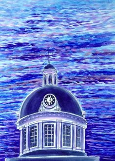 Kingston City Peak - Painting, in by Suzanne Berton - Painting, Watercolor Kingston City, Premier Ministre, Conceptual Art, Empire State Building, Original Art, Art Gallery, Canada, Watercolor, The Originals