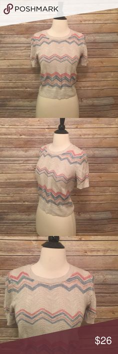 """Moth Brand Cropped Sweater Cute sweater by Moth.  In excellent condition!  Bust 31"""" Length 19.5"""" moth Sweaters Crew & Scoop Necks"""