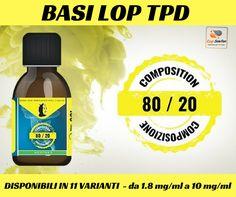 Basi LOP 80/20 TPD Ready! Scegli il tuo kit qui http://www.ecigsolution.it/home/1434-tpd-basi-lop-100ml-8020.html