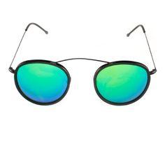 SPEKTRE - Met-ro 2 - Black - Black with blue mirror  shop.jennigraf.com Ro 2, Mirror Shop, Blue Mirrors, Mirrored Sunglasses, Collection, Black, Black People